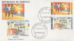 Enveloppe  FDC  1er  Jour    REPUBLIQUE   De   DJIBOUTI    Développement  Et  Maîtrise  De  L' Energie    1986 - Djibouti (1977-...)