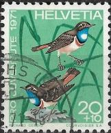 SWITZERLAND 1971 Children's Fund. Birds - 20c.+10c - Bluethroats FU - Pro Juventute