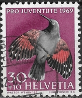 SWITZERLAND 1969 Children's Fund. Birds - 30c.+10c - Wallcreeper FU - Pro Juventute