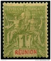 Reunion (1892) N 44 * (charniere) - Réunion (1852-1975)