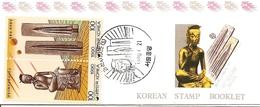 KOREA SOUTH, 1990, Booklet Philatelic Center 27, Science: Buddha-Moulds - Corea Del Sud