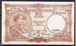 BELGIQUE MORIN N° 28, 01.09.1948 UNC, Infime Pli De Coin. (BB6) - 20 Franchi