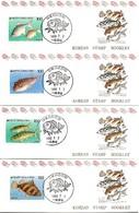KOREA SOUTH, 1990, Booklet Philatelic Center 33/36, Fish - Corea Del Sud