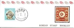 KOREA SOUTH, 1990, Booklet Philatelic Center 37, Vase - Corea Del Sud