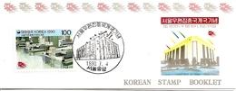 KOREA SOUTH, 1990, Booklet Philatelic Center 38, Opening Seoul Mail Center - Corea Del Sud