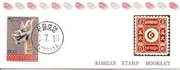 KOREA SOUTH, 1990, Booklet Philatelic Center 39, Head Dragon - Corea Del Sud