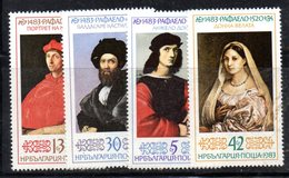 128 - 490 - ALBANIA 1983 ,    Yvert N. 2812/2815 ***  MNH  Raffaello - Albanie