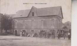 CLERES   HOTEL DU CHEVAL NOIR      CPA RARE - Clères