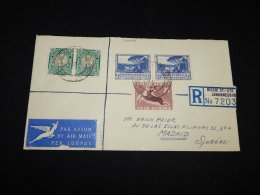 South Africa 1954 Johannesburg Registered Air Mail Cover To Spain__(L-14048) - Airmail