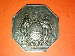 ANCIENNE MÉDAILLE ARGENT 27.78 Gr. COMPAGNIE GÉNÉRAL TRANSATLANTIQUE Graveur P. PAGNIER à Datée Diamètre 42 Mm - Other