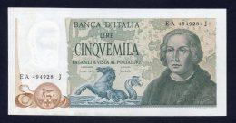 5000 Lire Colombo 2° Tipo 20/5/1971 (Quasi FDS) - [ 2] 1946-… : Républic