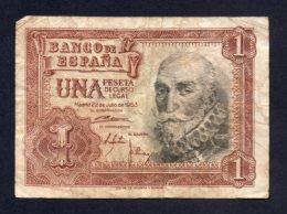 Spagna - 1 Pesetas 1953 - [ 3] 1936-1975 : Régence De Franco