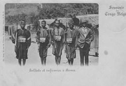Souvenir Du Congo Belge.Soldats Et Infirmiers à Boma - Congo Belge - Autres