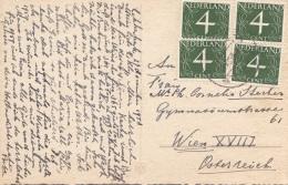 NEDERLAND 1958 - 4 Fach Frankierung Auf Neujahr Glückwunschkarte - 1949-1980 (Juliana)