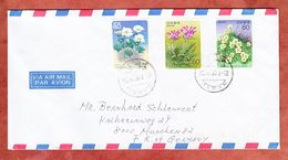 Luftpost, MiF Bergpflanzen, Meiwa Nach Muenchen 1980 (52450) - Covers & Documents