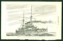 Picture Of 3 Battleship : King Edward VII GB 1903 , Ceringen Germany 1899, Sikisima Japan 1898 - Boats