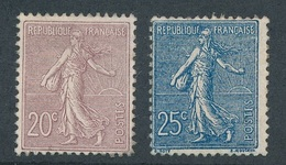 "CA-113: FRANCE: Lot  Avec ""SEMEUSE LIGNEE""  N°131/132**GNO - 1903-60 Semeuse Lignée"