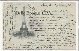 PRÉCURSEUR 1898 /// 75 - PARIS 07 - Tour Eiffel ++++++ Vers Strasbourg, Alsace, 1898 - Distrito: 07