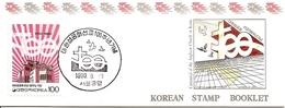 KOREA SOUTH, 1990, Booklet Philatelic Center 48, Anglican Church - Corea Del Sud