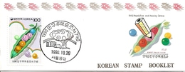 KOREA SOUTH, 1990, Booklet Philatelic Center 50, Census - Corea Del Sud