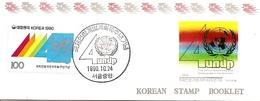 KOREA SOUTH, 1990, Booklet Philatelic Center 51, UN - Corea Del Sud