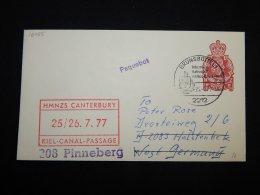 UK 1977 Brunsbuttel HMNZS Canterbury Stationery Envelope__(L-16085) - Stamped Stationery, Airletters & Aerogrammes