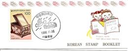 KOREA SOUTH, 1990, Booklet Philatelic Center 52, Philatelic Week - Corea Del Sud