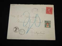 USA 1920 Washinton Mpostage Due Cover To Switzerland__(L-14885) - United States
