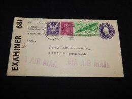 USA 1947 South Milwaukee Stationery Envelope To Switzerland__(L-14030) - Ganzsachen