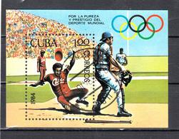 Cuba 1984 Mi Nr Blok 84 ; Baseball - Cuba