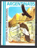 Cuba 1985 Mi Nr Blok 90 ; ARGENTINA '85, Buenos Aires, Bird, Condor - Gebruikt