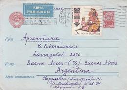 URSS CCCP CIRCULEE TO BS AS. CIRCA 1966. ENTERO ENTIER PAR AVION. RUSSIA.-BLEUP - 1923-1991 USSR
