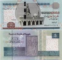 EGYPT       5 Pounds       P-71[b]        4.10.2016       UNC  [ Sign. Amer ] - Egitto