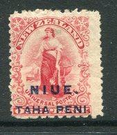 Niue 1902 New Zealand Overprints - 1d Universal - P.11 X 14 MNG (SG 5) - Niue