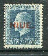 Niue 1917-21 New Zealand Overprints - KGV Recess - 2½d Blue - P.14 X 13½ HM (SG 28) - Niue