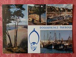 Dep 29 , Cpm  DOUARNENEZ TREBOUL  , Multivues , MX 194 , La Plage Du Ris , Plage St Jean , Port ...   (297) - Douarnenez