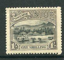 Niue 1920 Pictorials - No Wmk. - 1/- Avarua Harbour HM (SG 43) - Niue