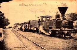 CPA - NIGER - Thiès - Un Train De Matériel - Niger