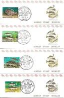 KOREA SOUTH, 1991, Booklet Philatelic Center 66/69, Fish Series: 4 Booklets - Corea Del Sud