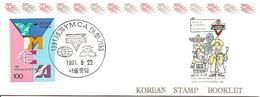 KOREA SOUTH, 1991, Booklet Philatelic Center 75, YMCA - Corea Del Sud