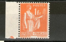 N° 286** Type II_bord De Feuille_repère Orange - 1932-39 Paix