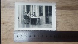 Chamrousse 38 Isère  Scan Dos 1953 Bar Chalet Femme Enfant Homme Famille Ski - Places