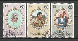 SWAZILAND 1981 - ROYAL WEDDING - CPL. SET - USED OBLITERE GESTEMPELT USADO - Swaziland (1968-...)