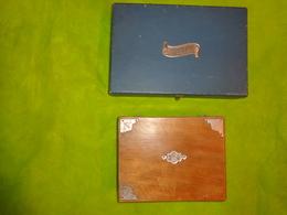 Lot De 2 Boite -29x19x6.5cm Environ- Pour Courrier  -21x16x8cm Environ Sans Cle-a Restaurer - Autres Collections