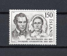 ISLANDA :  Centenario Morte Del Presidente Sigurdsson - 1 Val. MNH**  Del 01.11.1979 - 1944-... Repubblica