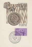 Carte  2éme  Concours  International  De  Manoeuvres  De   SAPEURS  POMPIERS   MULHOUSE   1963 - Sapeurs-Pompiers