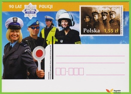 Voyo POLAND POLOGNE PC  2009  90 YEARS OF POLICE  MINT - Postwaardestukken