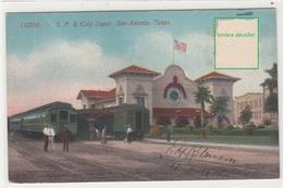 CPA- ETAT-UNIS- S. P. & Katy Depot, SAN ANTONIO, TEXAS -2scans - San Antonio