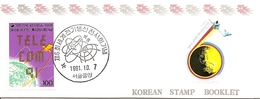 KOREA SOUTH, 1991, Booklet Philatelic Center 83, Telecom - Corea Del Sud