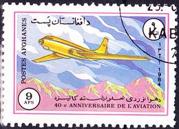 Afghanistan - Flugzeug Tupolew Tu-104A (MiNr: 1355) 1984 - Gest Used Obl - Afghanistan